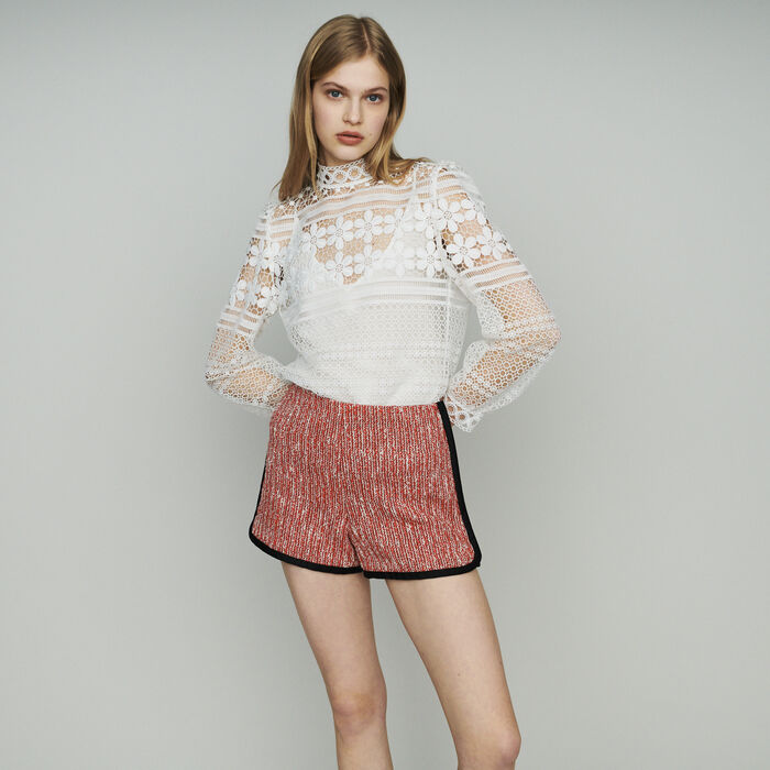Short stile tweed : Gonne e shorts colore Rosso