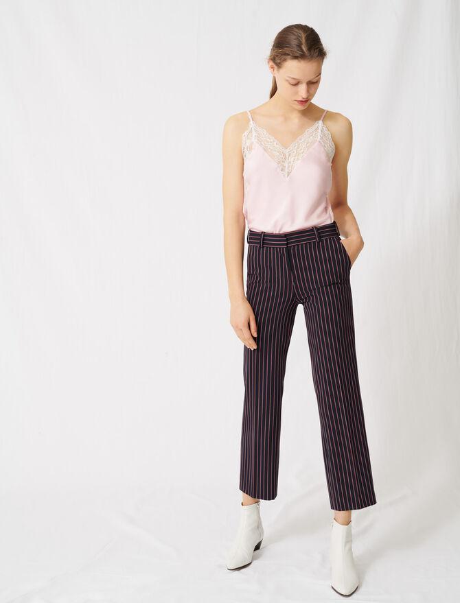 Pantaloni da tailleur a righe - Pantaloni e Jeans - MAJE
