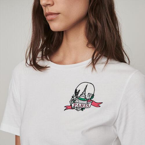 Tee-shirt ricamata : Collezione Inverno colore Bianco