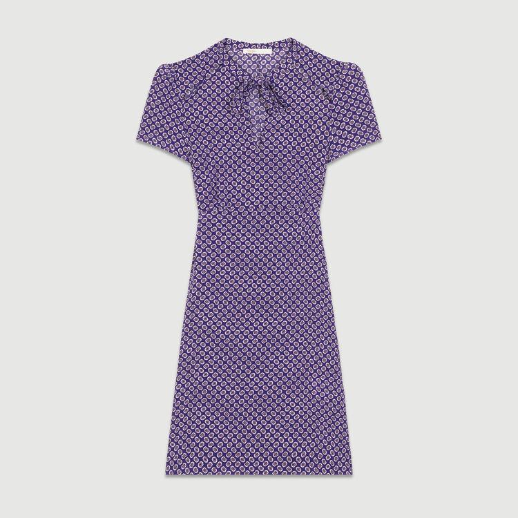 Vestito stampato in seta : Vestiti colore IMPRIME