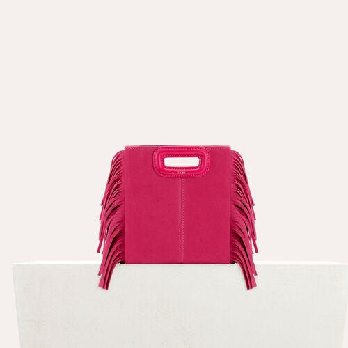 M mini borsa con frange in pelle : M Mini colore Rosa