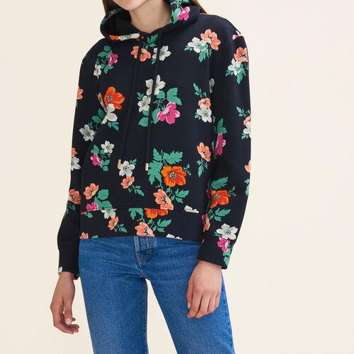 Felpa con cappuccio stampato : Pullover e cardigan colore IMPRIME