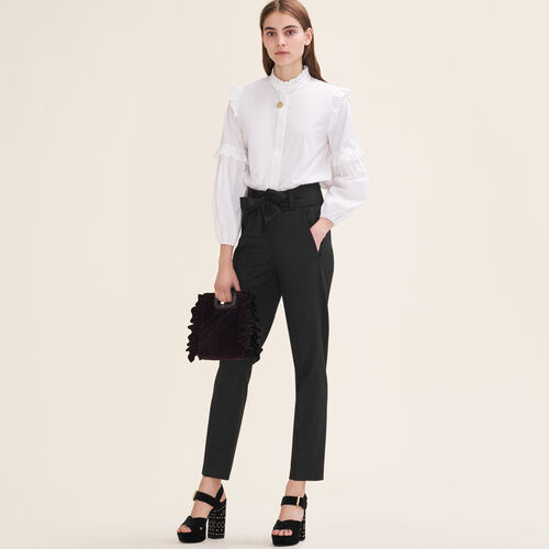 Pantaloni a carota con nodo : categories colore Nero