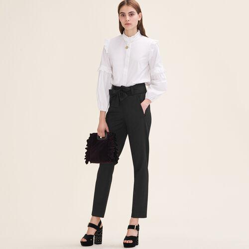 Pantaloni a carota con nodo : Pantaloni e Jeans colore Nero