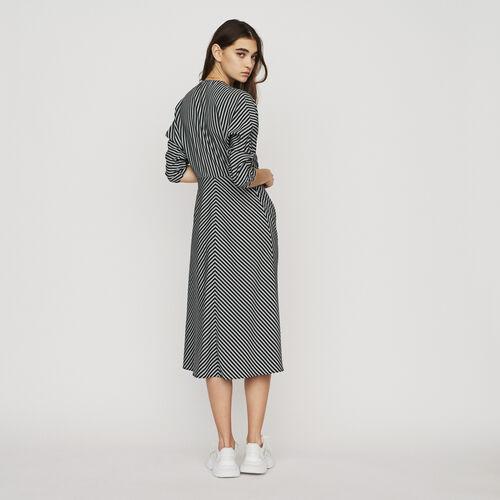 Vestito midi a righe con zip : New in : Collezione Estate colore A Righe