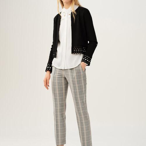 Cardigan con dettagli a punto ajour : Pullover e cardigan colore Nero