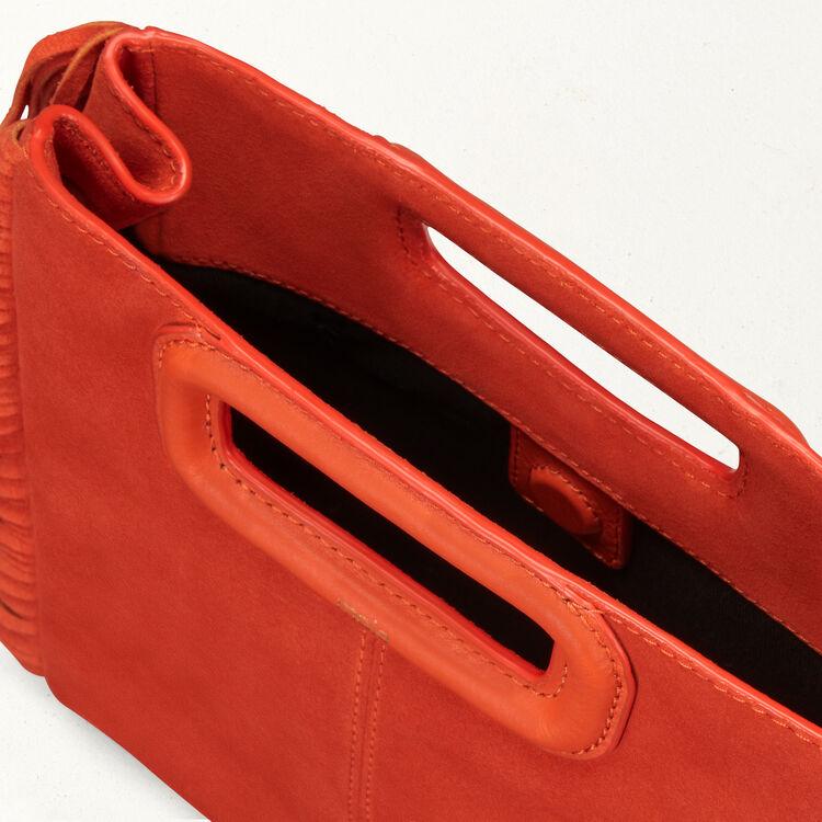 Borsa M in pelle scamosciata : Borse M colore Arancio