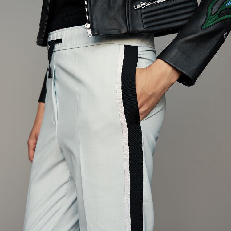 Pantalone elasticizzato : Pantaloni colore Ceruleo
