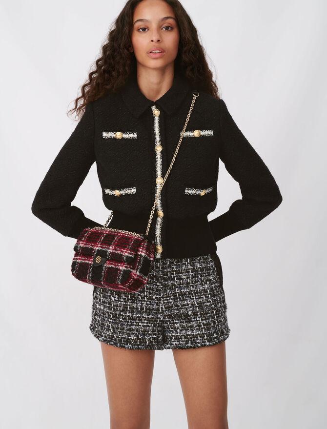 Giubbotto stile tweed contrastante - Giacche - MAJE
