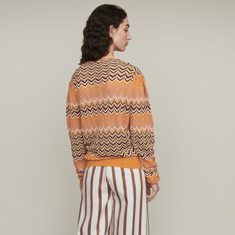Pull in maglia zigzag : Pullover e cardigan colore Arancio