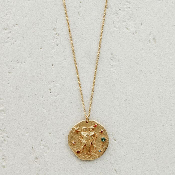 Collana segno zodiacale Gemelli : Gioelli colore OR