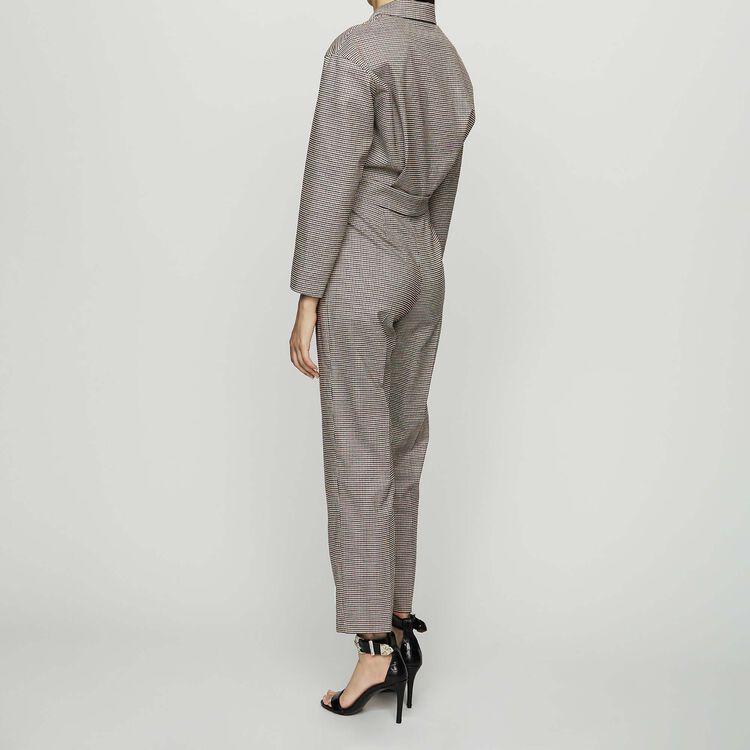 Tuta pantalone a quadri con cintura : Pantaloni colore CARREAUX