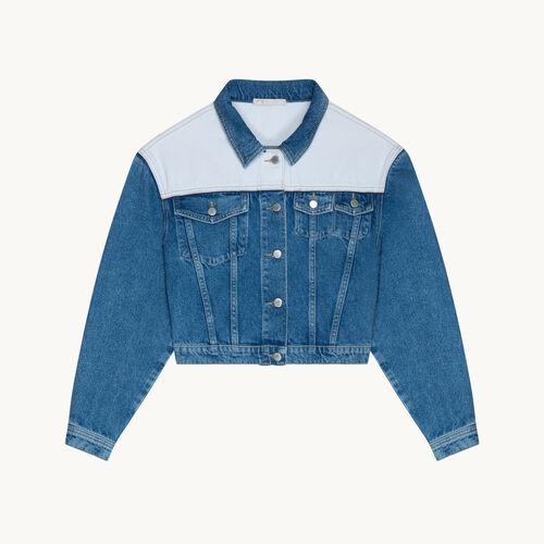 Giacca di jeans bicolore - null - MAJE
