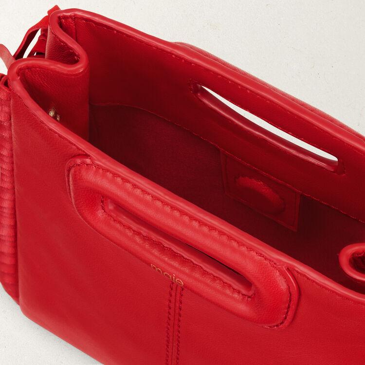 Mini borsa M con frange in pelle : Collezione colore RED