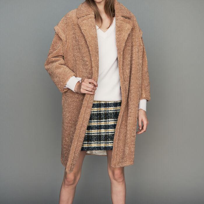 Cappotto oversize stile montone : Cappotti colore Cammello