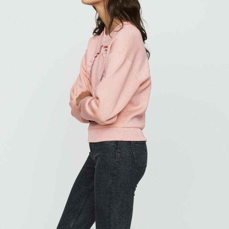 Felpa con ricami : Sweatshirts colore PECHE