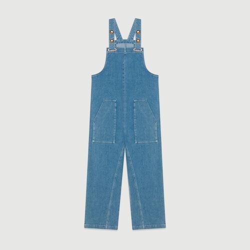 Tuta pantalone in jeans : Jeans colore Denim