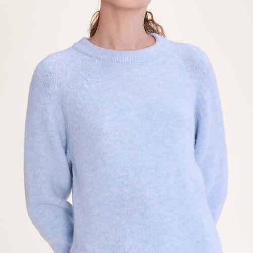 Pullover loose morbido : Pullover e cardigan colore Ceruleo
