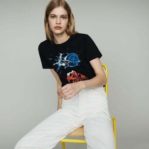 Tee-shirt con scritta : T-Shirts colore Nero