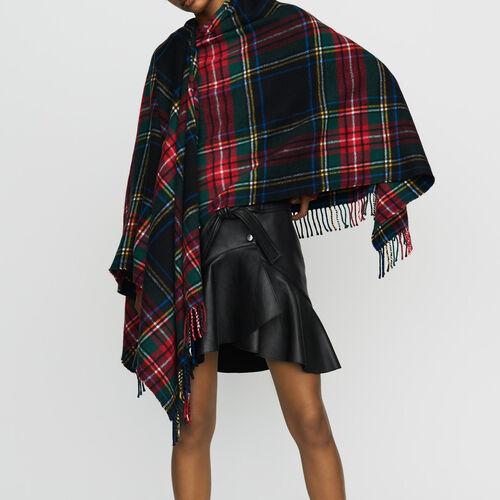 Poncho con stampa tartan in cachemire : Scialli & Poncho colore Multicolore