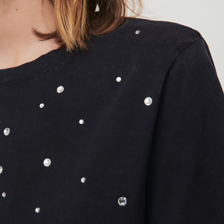 Tee-shirt con strass : T-Shirts colore Antracite