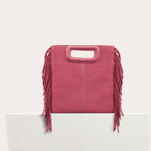 Borsa M in pelle scamosciata : -40% colore Rosa