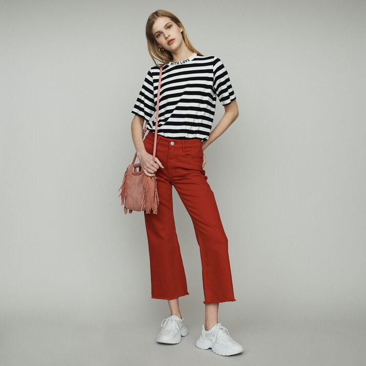 Jeans larghi a vita alta : Pantaloni e Jeans colore Rosso