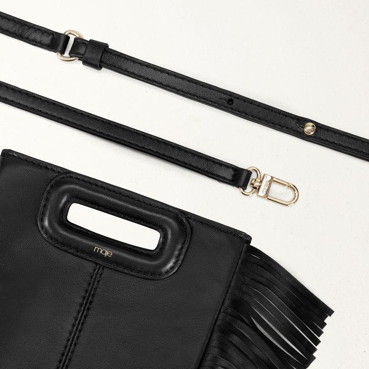 Mini borsa M con frange in pelle : M Mini colore Nero