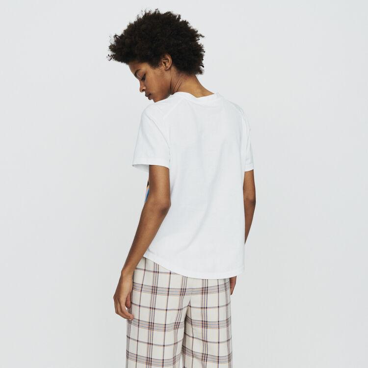 Tee-shirt stampata : T-Shirts colore Bianco