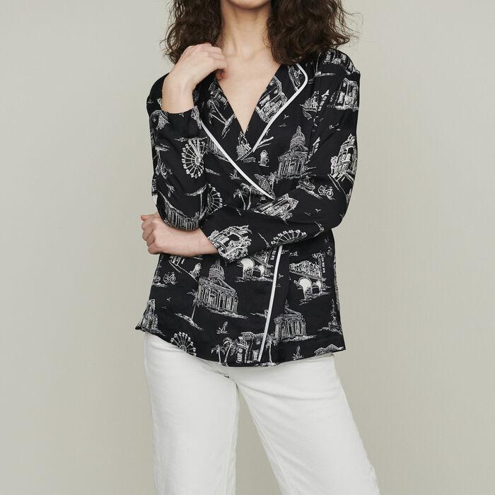 Camicia con stampa Parigi : Camicie colore NERO