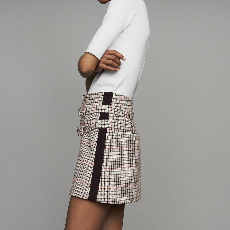 Pantaloncini trompe-l'œila quadri : Gonne e shorts colore CARREAUX