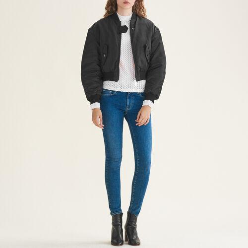 Jeans skinny in cotone stretch : Jeans colore Blu