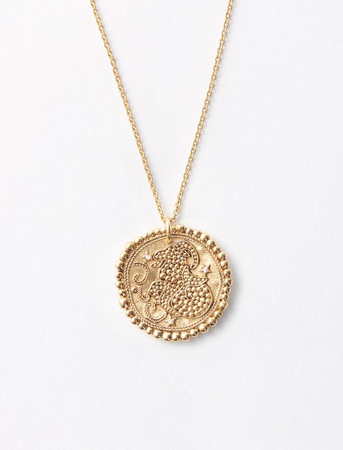 Collana con medaglia segno astrologico -  - MAJE