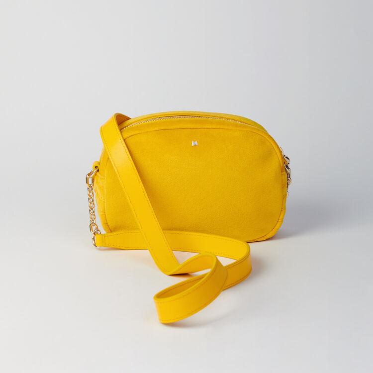 Quilted velvet shoulder bag : Sami bag colore Giallo