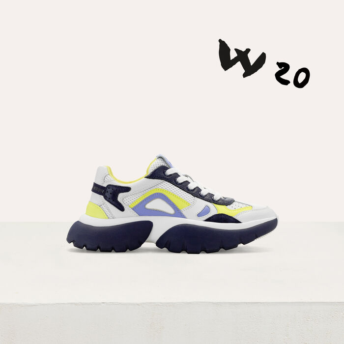 Sneakers W20 urbane in pelle : Sneakers colore Blu