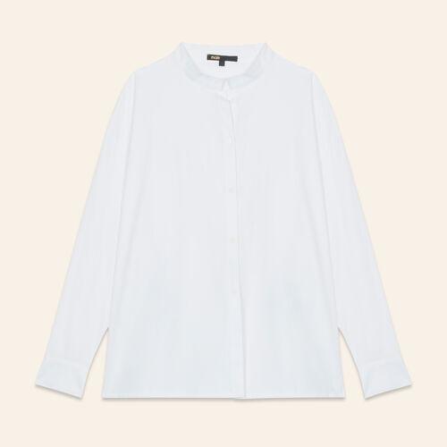 Camicia asimmetrica in popeline - Camicie - MAJE