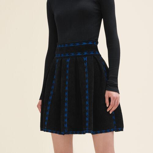 Gonna in maglia jacquard : Gonne e shorts colore Nero