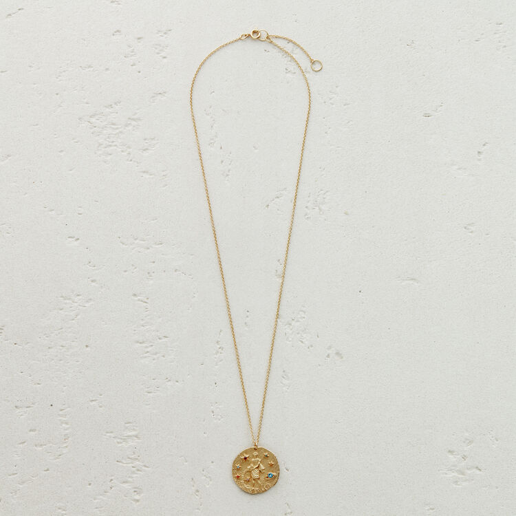 Collana segno zodiacale Acquario : Medaglione colore OR
