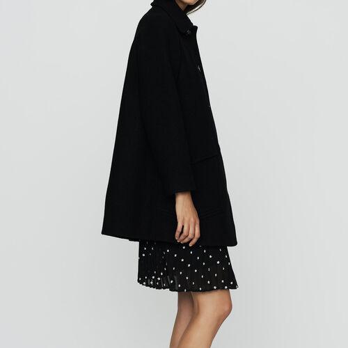 Cappotto a trapezio in lana : Cappotti colore Nero