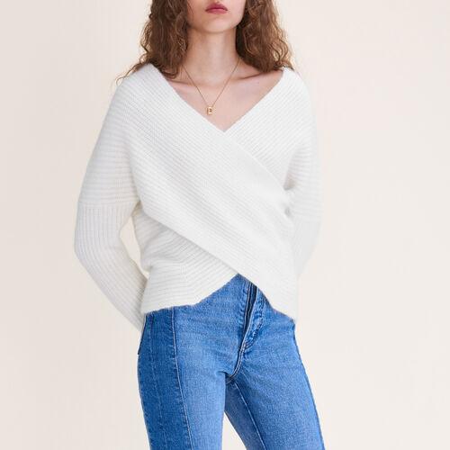 Pullover incrociato in maglia - prêt-à-porter - MAJE