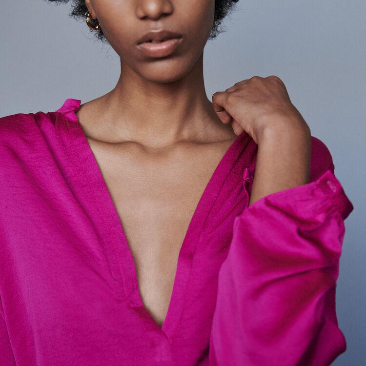 Top in satin : Tops e Camicie colore Rosa