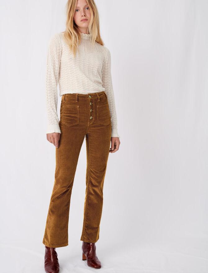 Pantaloni dritti in velluto - Pantaloni e Jeans - MAJE