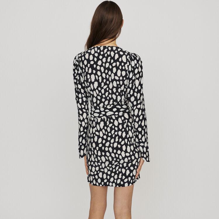 Vestito corto stampato e arricciato : Vestiti colore IMPRIME