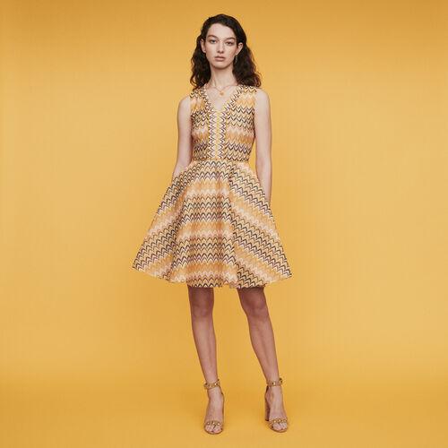 Vestito pattinatrice in maglia a righe : Vestiti colore Multicolore