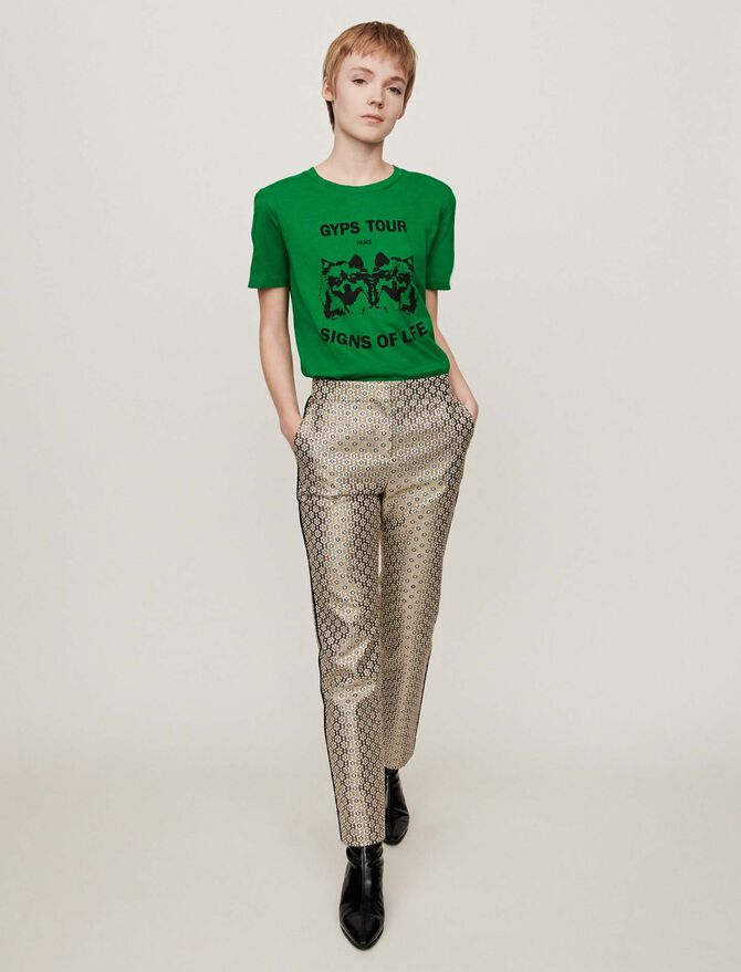 Pantalone in jacquard Lurex - Pantaloni e jeans - MAJE