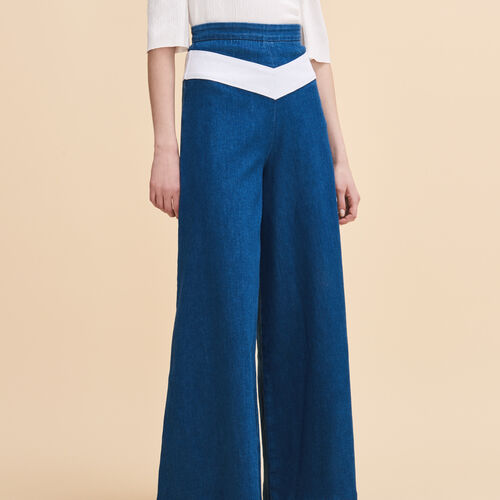 Gonna a pantalone in jeans : Pantaloni & jeans colore Denim