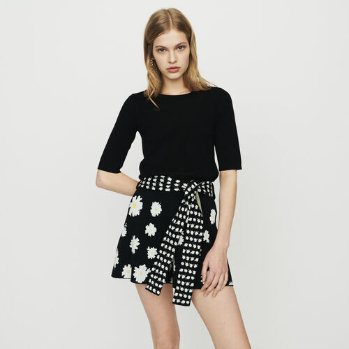 Pull in maglia con maniche corte : Pullover e cardigan colore NERO