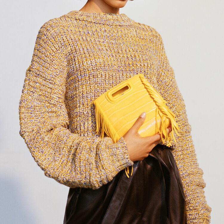 Mini-borsa M in coccodrillo con catena : M Mini colore Rosa