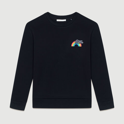Felpa stampata : Sweatshirts colore Nero