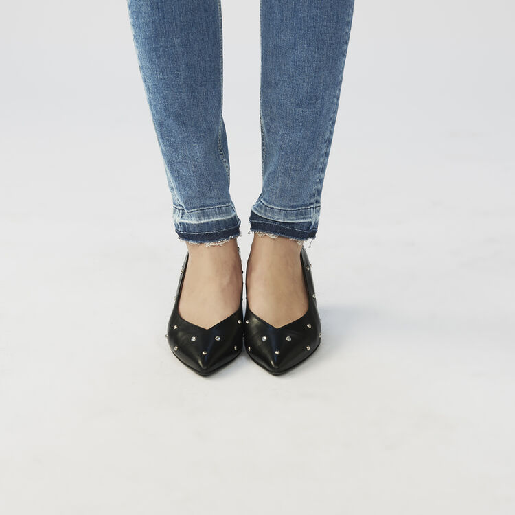 Jeans skinny delavè : Jeans colore Denim